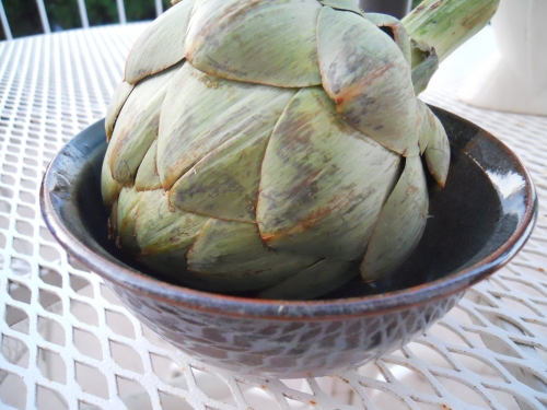 artichoke and bowl