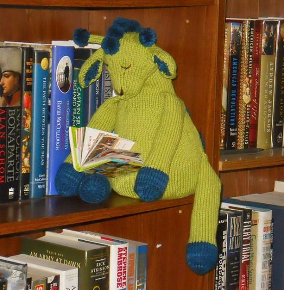 Giraffe reading