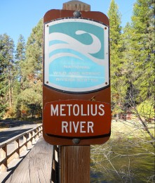with river sign