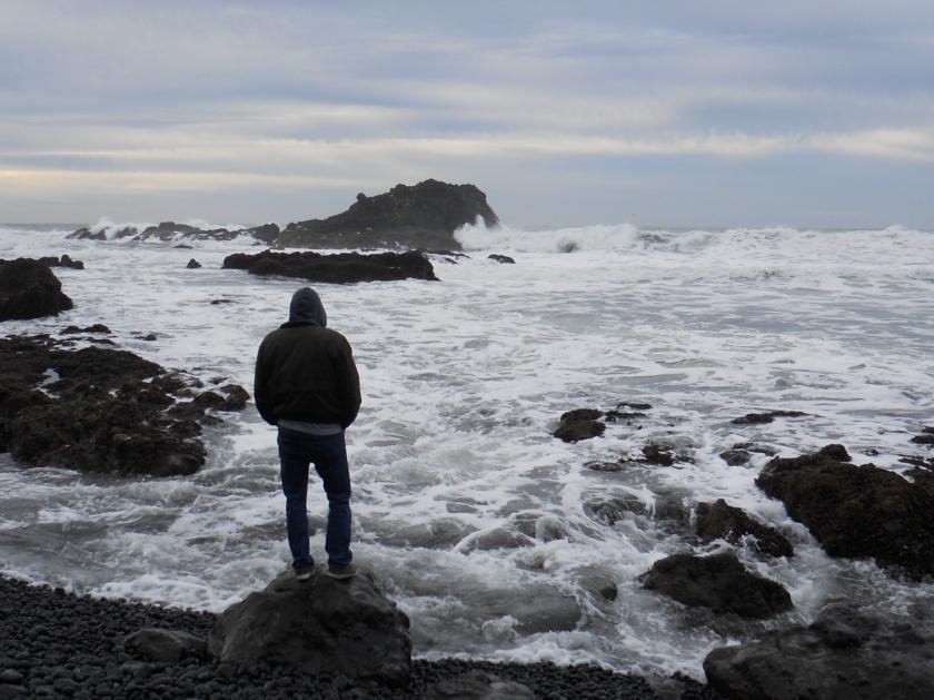 cliff silhouette