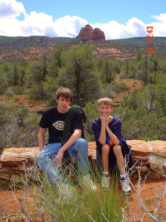 The boys in Sedona, 2005