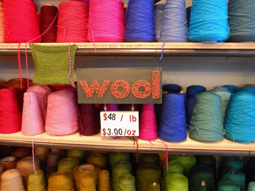 wool on shelf